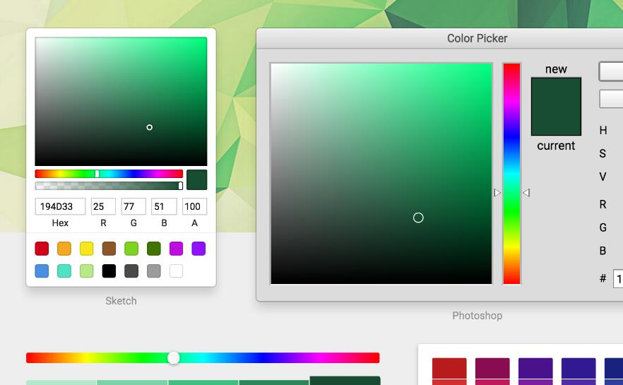 React-color: Color Pickers from Sketch, Photoshop, Chrome & more