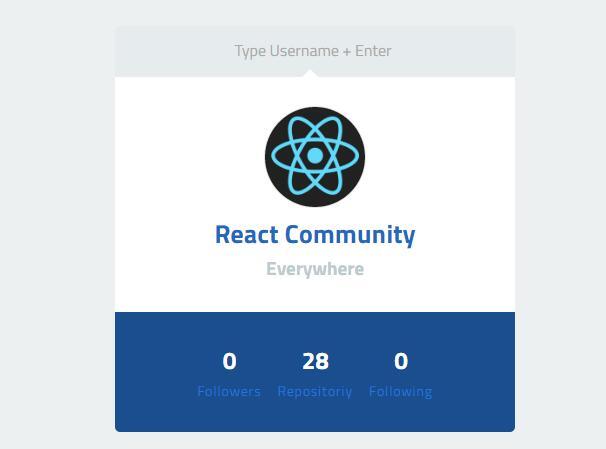 GitHub Card With ReactJs
