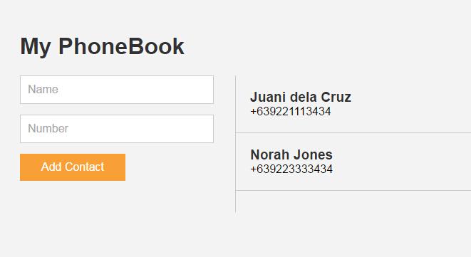 Phone Book App - ReactJS