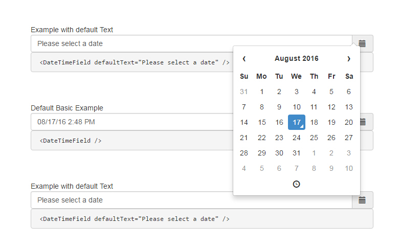 A react js datetime picker for bootstrap
