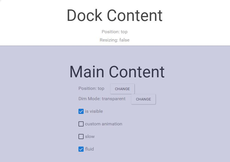 React-dock : Resizable dockable react component