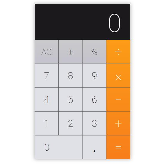 iOS Calculator app in React.js