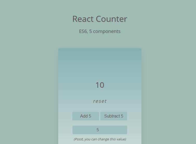 React Counter - React js Examples