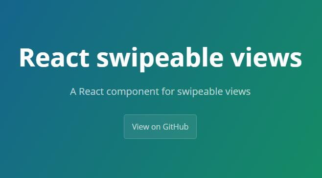 React swipeable views : A React component for swipeable views