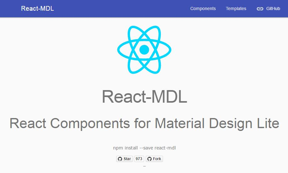 React Components for Material Design Lite