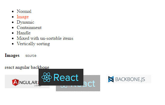 React anything sortable