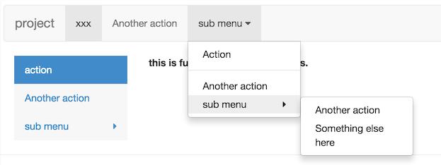 menu ui component for react