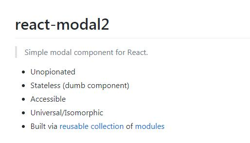 react-modal2 : Simple modal component for React