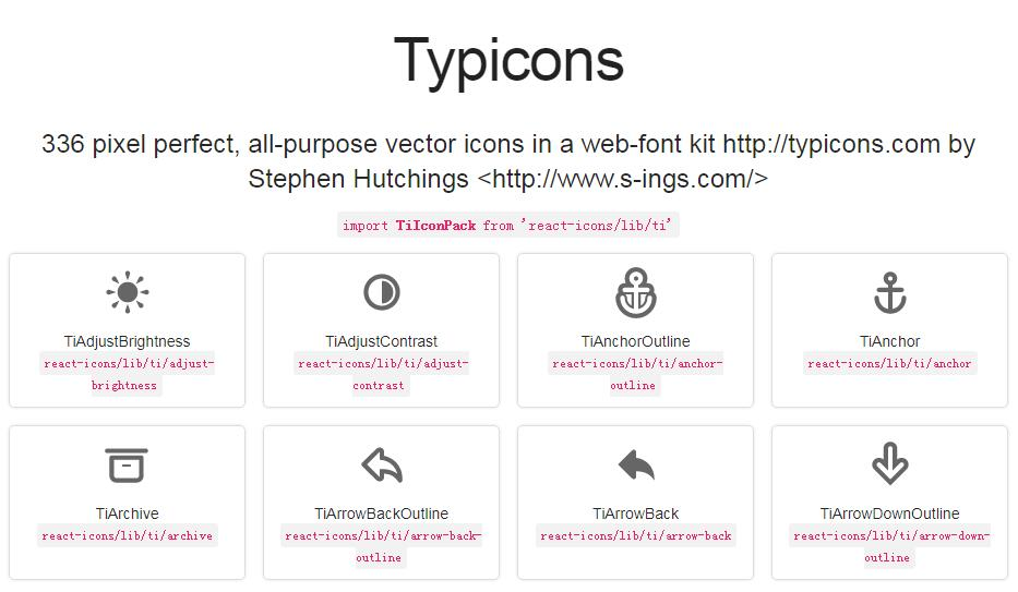 Svg react icons of popular icon packs
