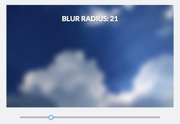 React component for blurred backgrounds