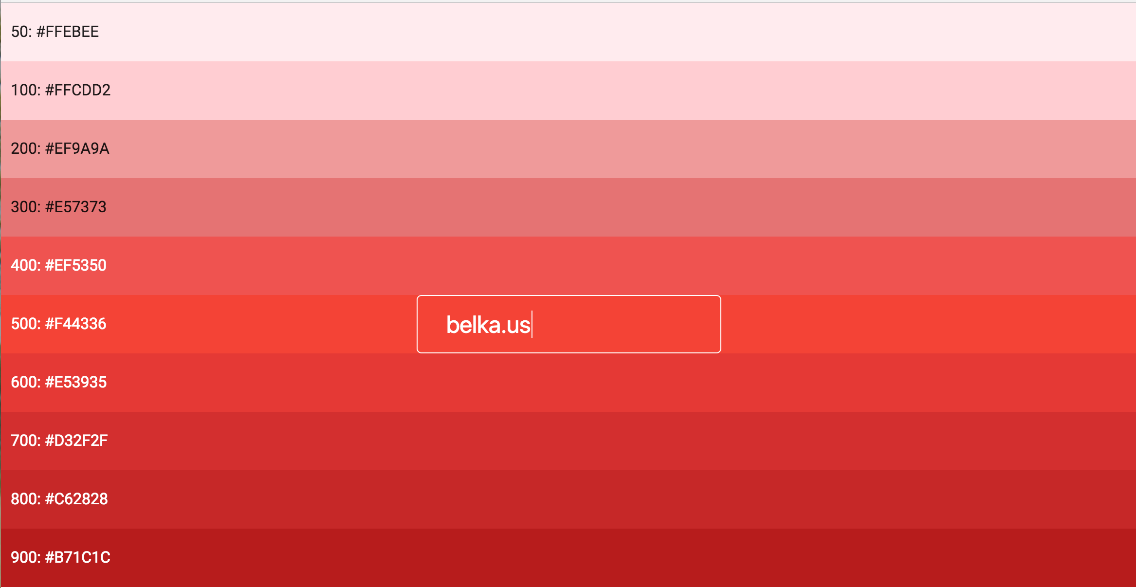 Hash a string to a Material Design color