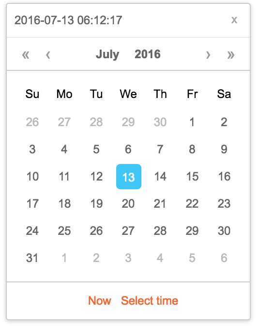 A simple and nice calendar with reactjs