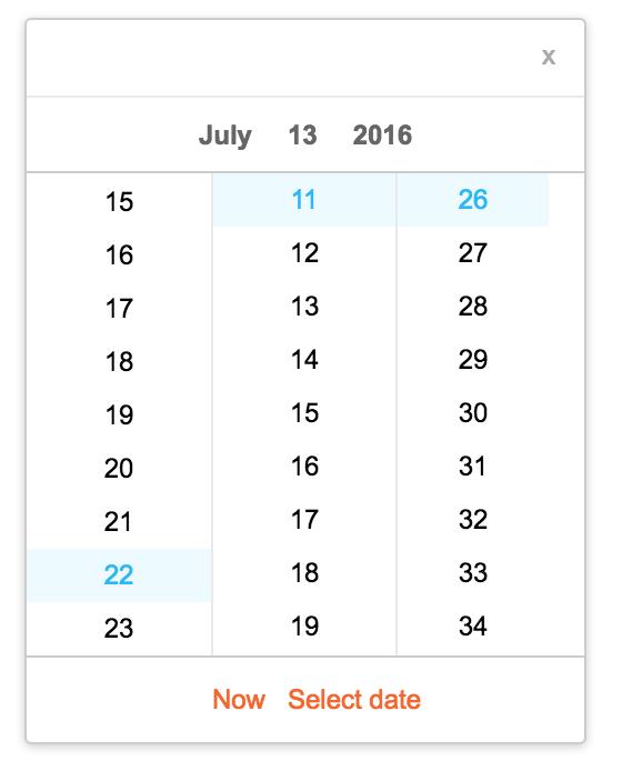 A simple and nice calendar with reactjs