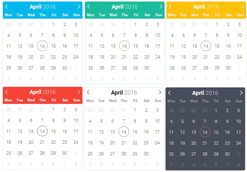 lightweight and powerful datetimepicker with no dependencies for