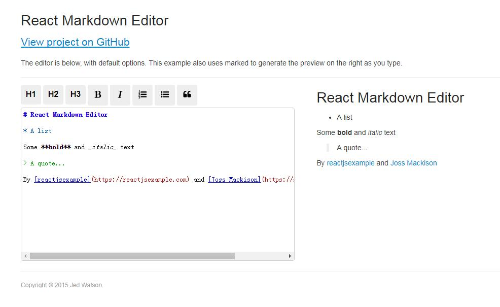 A Markdown Editor for React.js built with CodeMirror