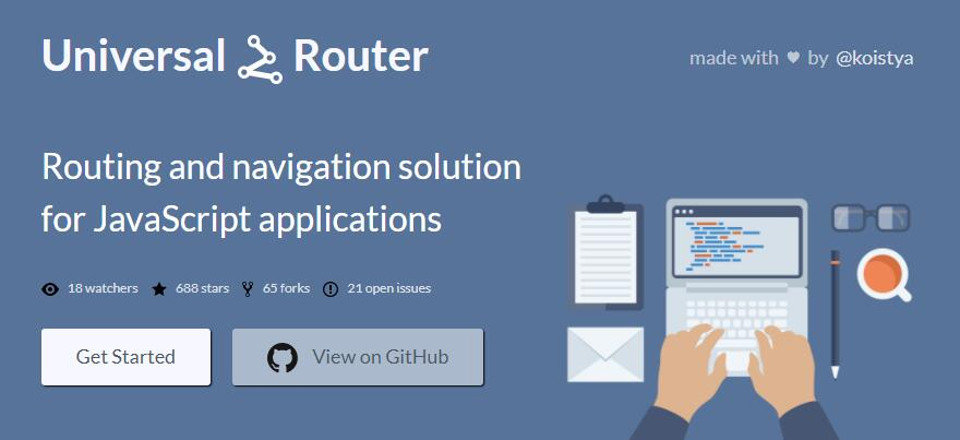 Routing and navigation solution for JavaScript