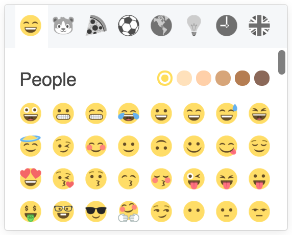 A react emoji picker for use with emojione