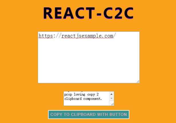 Performant and lightweight copy 2 clipboard component for react applications
