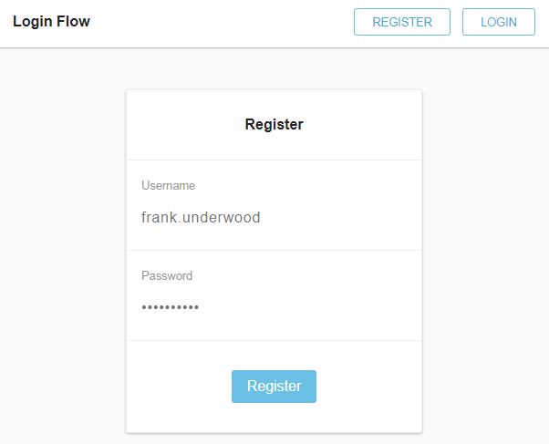 A login/register flow built with React & Redux Saga