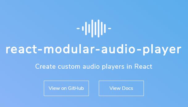 React Audio Player Component for HTML5 Audio