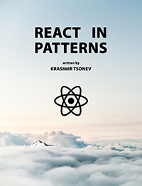 A book about common design patterns used while developing with React
