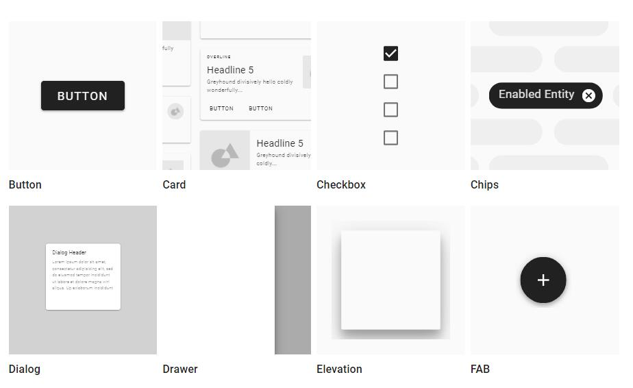 Modular and customizable Material Design UI components for the web