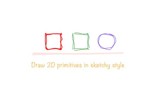 Draw 2D primitives in sketchy style with React