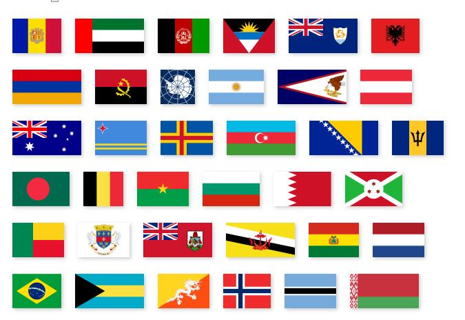 Easy to use SVG flags of the world for react