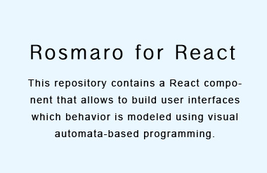 Visual automata-based programming for React