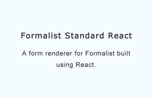 A form renderer for Formalist built using React