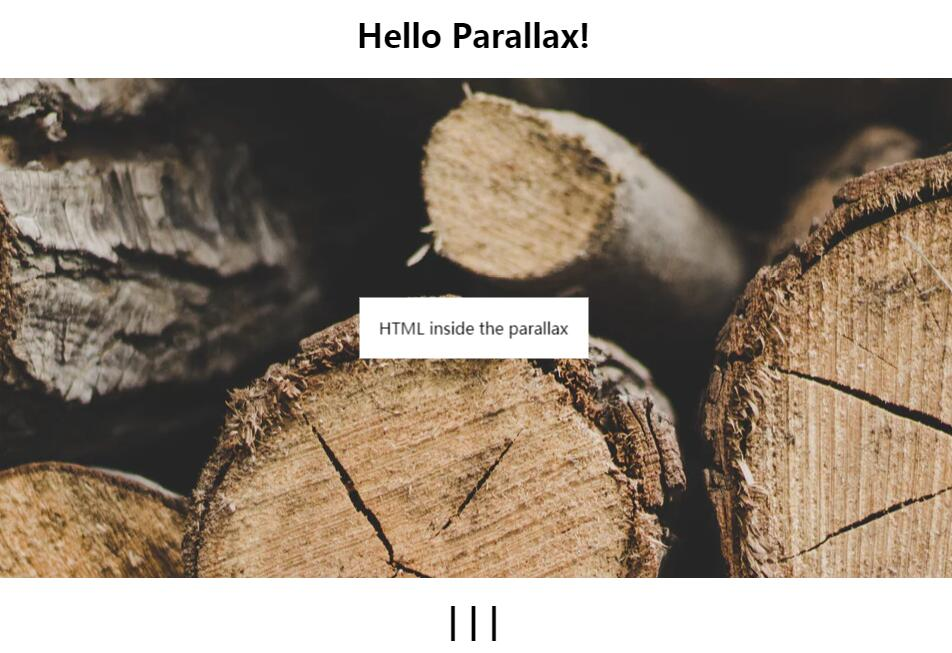 A React Component for parallax effect