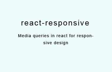 Media queries in react for responsive design