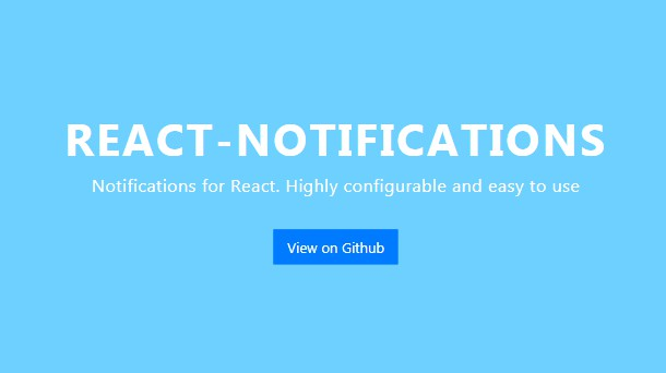 Highly configurable and easy to use React Component to notify your users