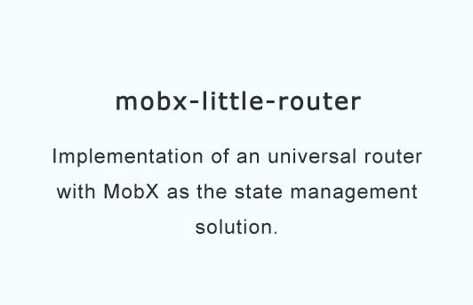 React adapter components for mobx-router