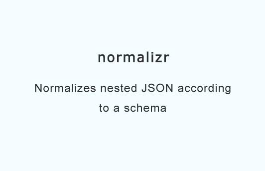 Normalizes and denormalizes JSON according to schema for Redux and Flux applications