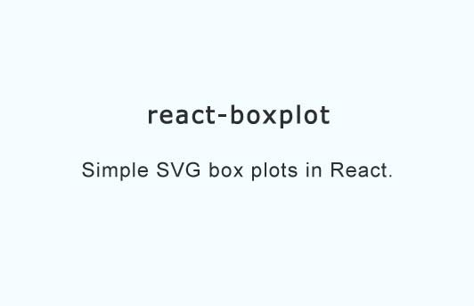 Simple SVG box plots in React