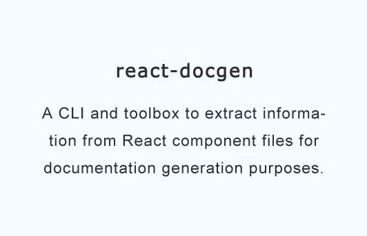 A CLI and toolbox to help extracting information from React components