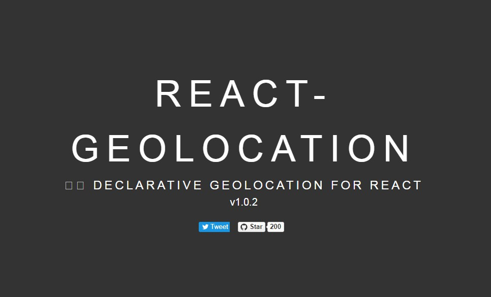 Declarative geolocation in React