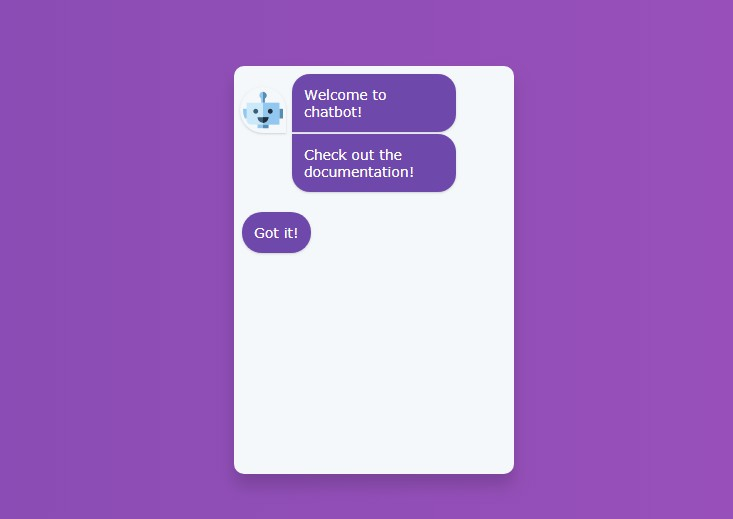 A simple chatbot component to create conversation chats