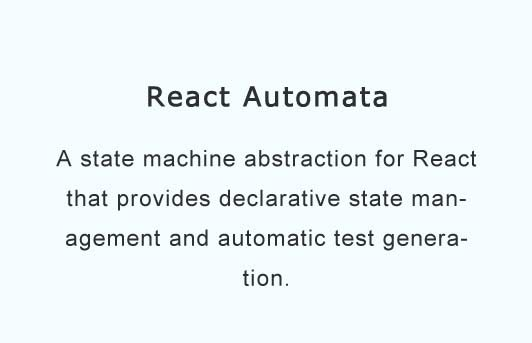 A state machine abstraction for React