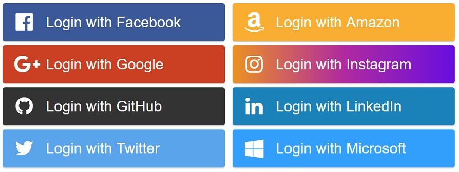 A simple package to display social login buttons using React