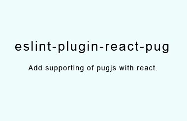 Add supporting of pugjs with react