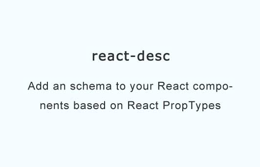 Add an schema to your React components based on React PropTypes