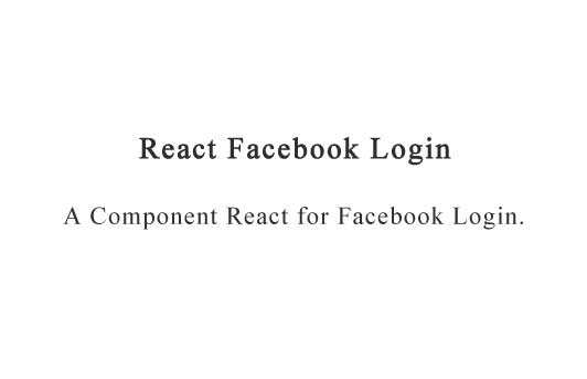 A Component React for Facebook Login