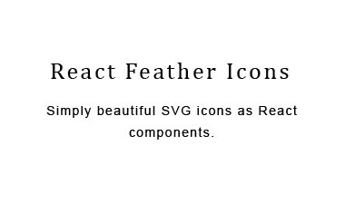 React component for Feather icons