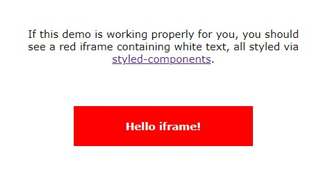 React iframe that works well with styled-components