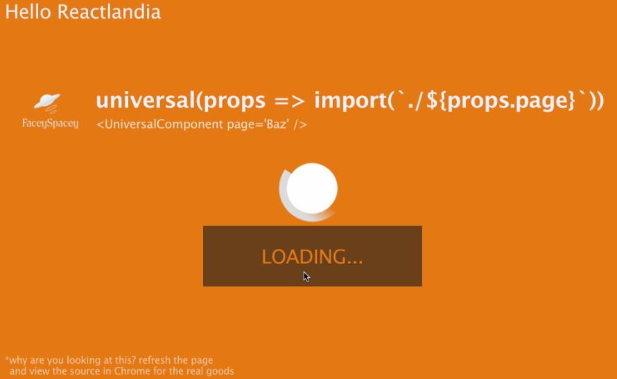 A React Universal Component: simultaneous SSR + Code Splitting