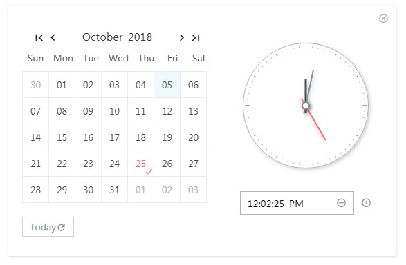 A react date time picker component