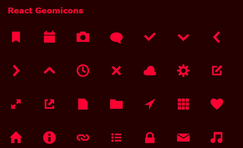 React icon component for Geomicons Open