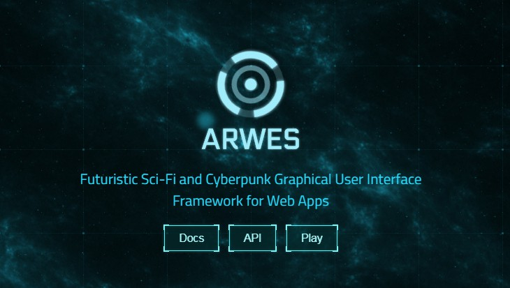 Futuristic Sci-Fi and Cyberpunk Graphical User Interface Framework for Web Apps